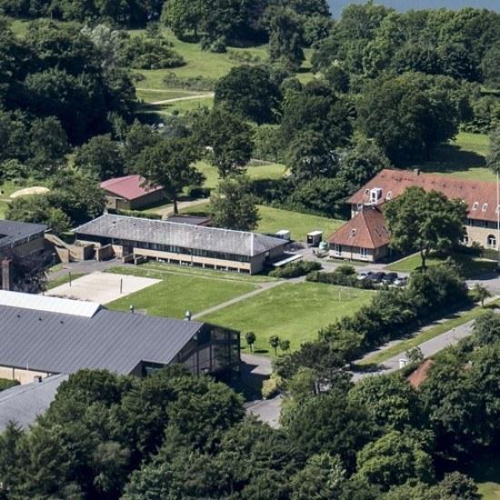 Viborg Idrætshøjskole Luftfoto