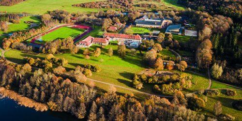 Viborg Idrætshøjskole dronebillede