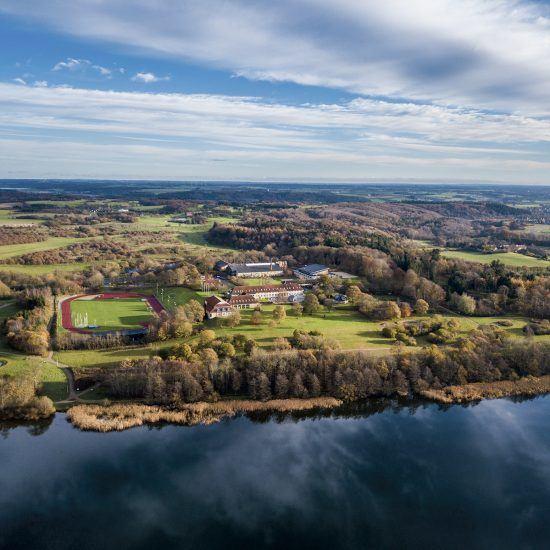 Viborg Idrætshøjskole set fra oven
